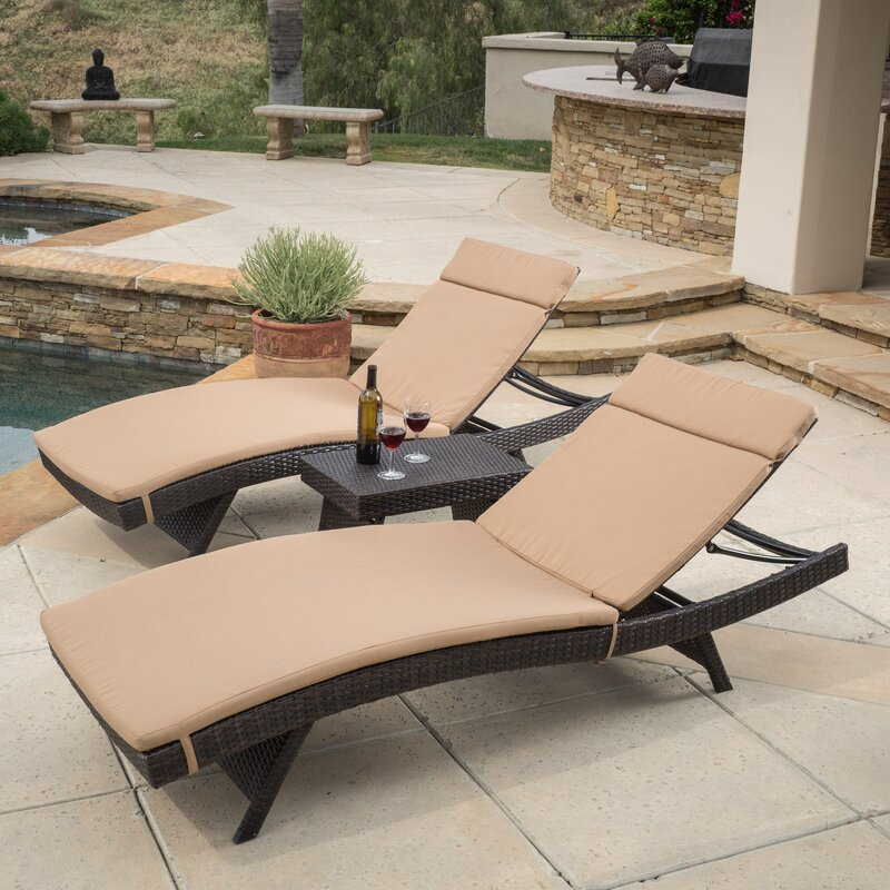 Rio Vista Chaise Lounge Set with Cushion : rio chaise lounge - Sectionals, Sofas & Couches