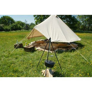 HomeZone® Outdoor Steel Multi Use Camping Cooking Tripod By Sol 72 Outdoor