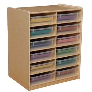 Affordable Letter Storage Unit 12 Compartment Cubby with Trays ByWood Designs