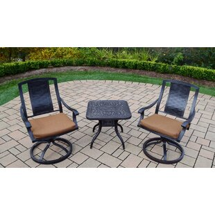 Oakland Living Vanguard 3 Piece Dining Set with Cushions