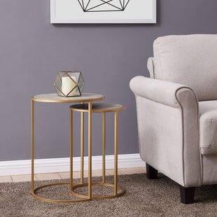 Delphine 2 Piece Nesting Tables by Mercer41 2019 Coupon