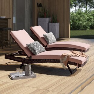 Prudence Reclining Sun Lounger Set with Cushions (Set of 2)