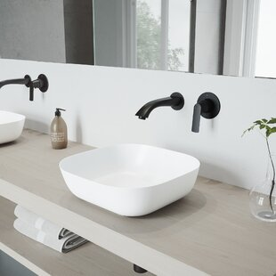 Camellia Stone Square Vessel Bathroom Sink with Faucet VIGO