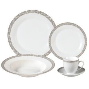 Gaskins Porcelain 24 Piece Dinnerware Set, Service for 4