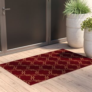 Somerford Rubberback Red Indoor/Outdoor Area Rug