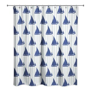 Joe Boat Stripes Single Shower Curtain