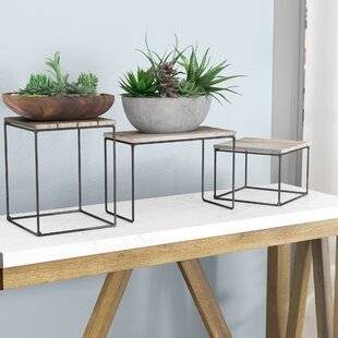 Best Reviews Hughes Top Riser 3 Piece Nesting Plant/Telephone Table By Gracie Oaks