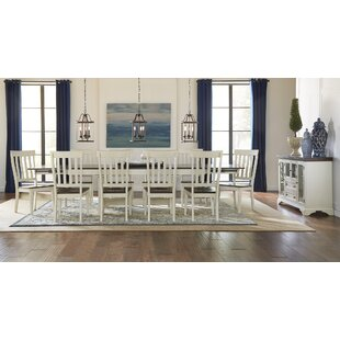 Aguero 11 Piece Extendable Solid Wood Dining Set