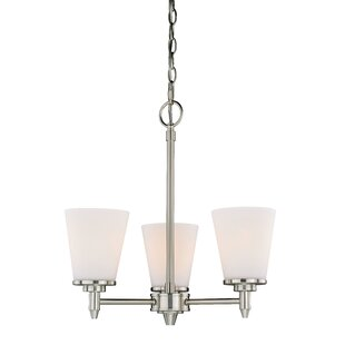 Charlton Home Acadia 3-Light Shaded Chandelier