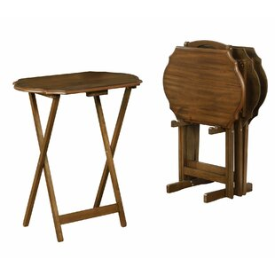 Bryleigh Wooden Tray Table Set