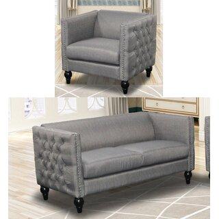 Annuziata 2 Piece Living Room Set by House of Hampton SKU:BE760028 Purchase