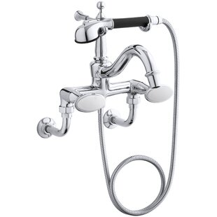 Kohler Antique Floor- or Wall-Mount Bath Faucet with Oval Handles and Handshower