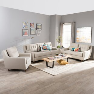 Top Reviews Binkley 3 Piece Living Room Set by George Oliver Reviews (2019) & Buyer's Guide