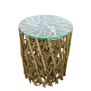 Bay Isle Home Lefkoniko Maze Bamboo End Table