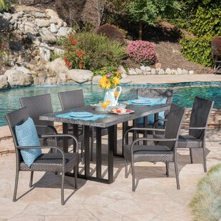 Yowell Outdoor 7 Piece Dining Set