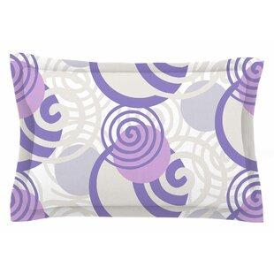 Patternmuse 'Dynamic Swirls Purple' Digital Sham