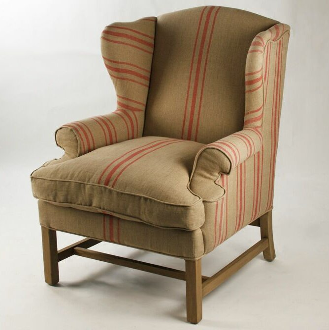 Ordinaire Barnicle Stripes Wingback Chair