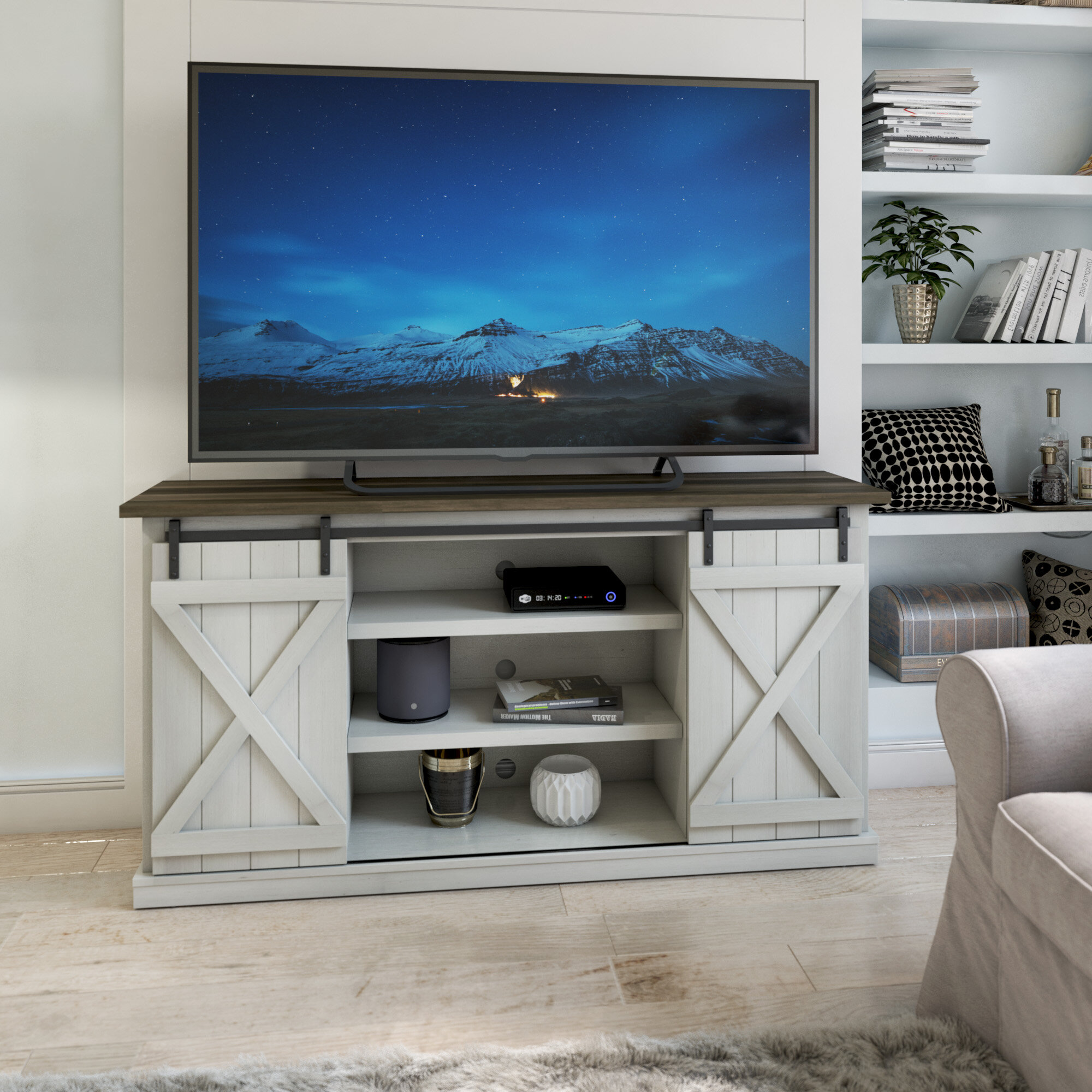 Three Posts Lorraine Tv Stand For Tvs Up To 70 Reviews Wayfair