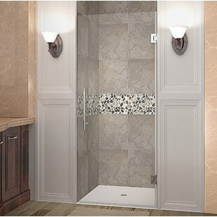 Check Prices Cascadia 24 x 72 Hinged Completely Frameless Single Panel Shower Door By Aston