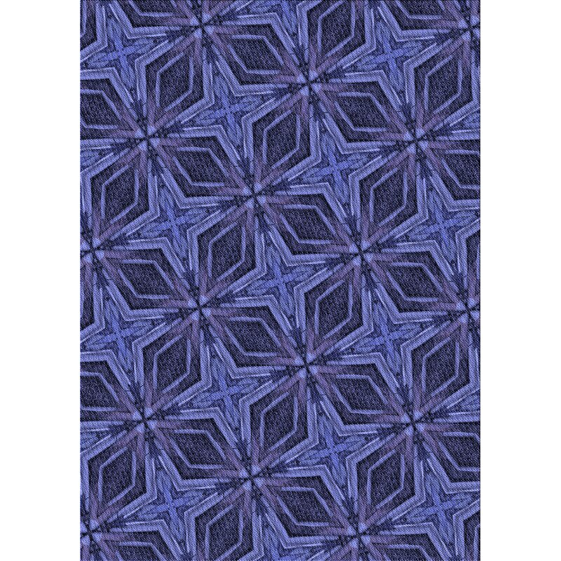 East Urban Home Biseye Geometric Wool Blue Area Rug Wayfair