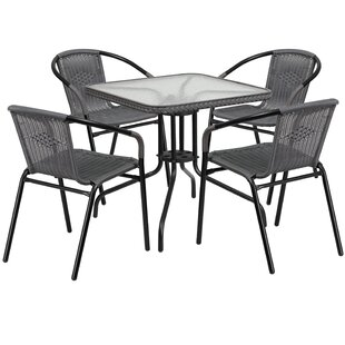Willa Arlo Interiors Adrik 5 Piece Bistro Set