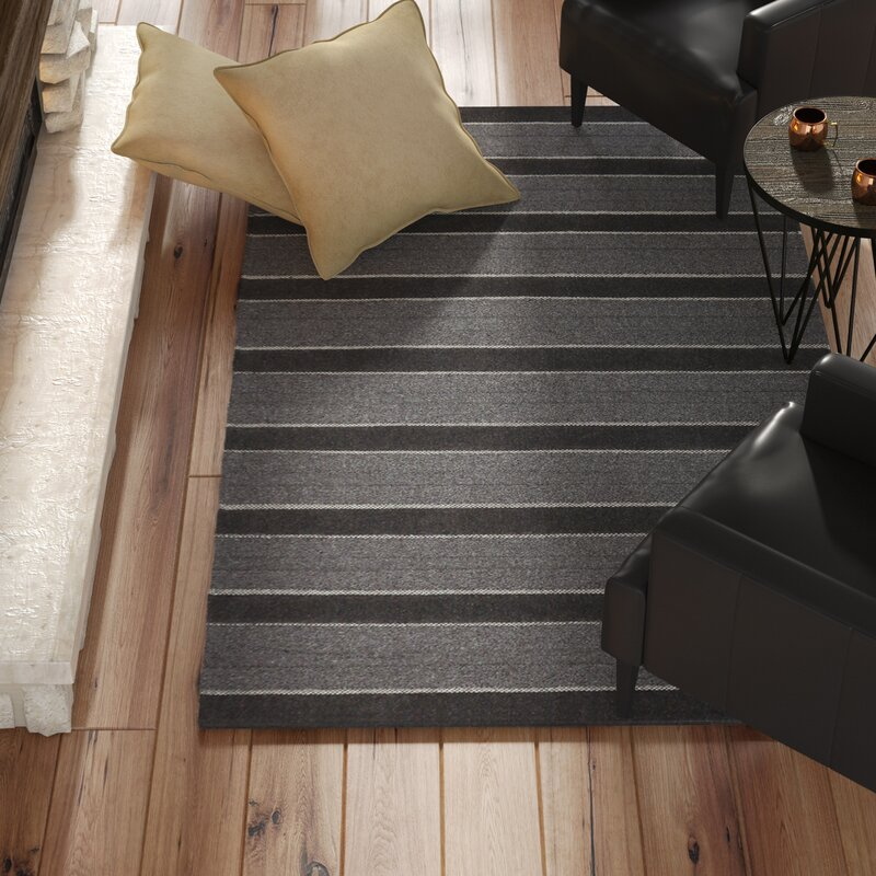Birkdale Modern Hand-woven Charcoal Area Rug