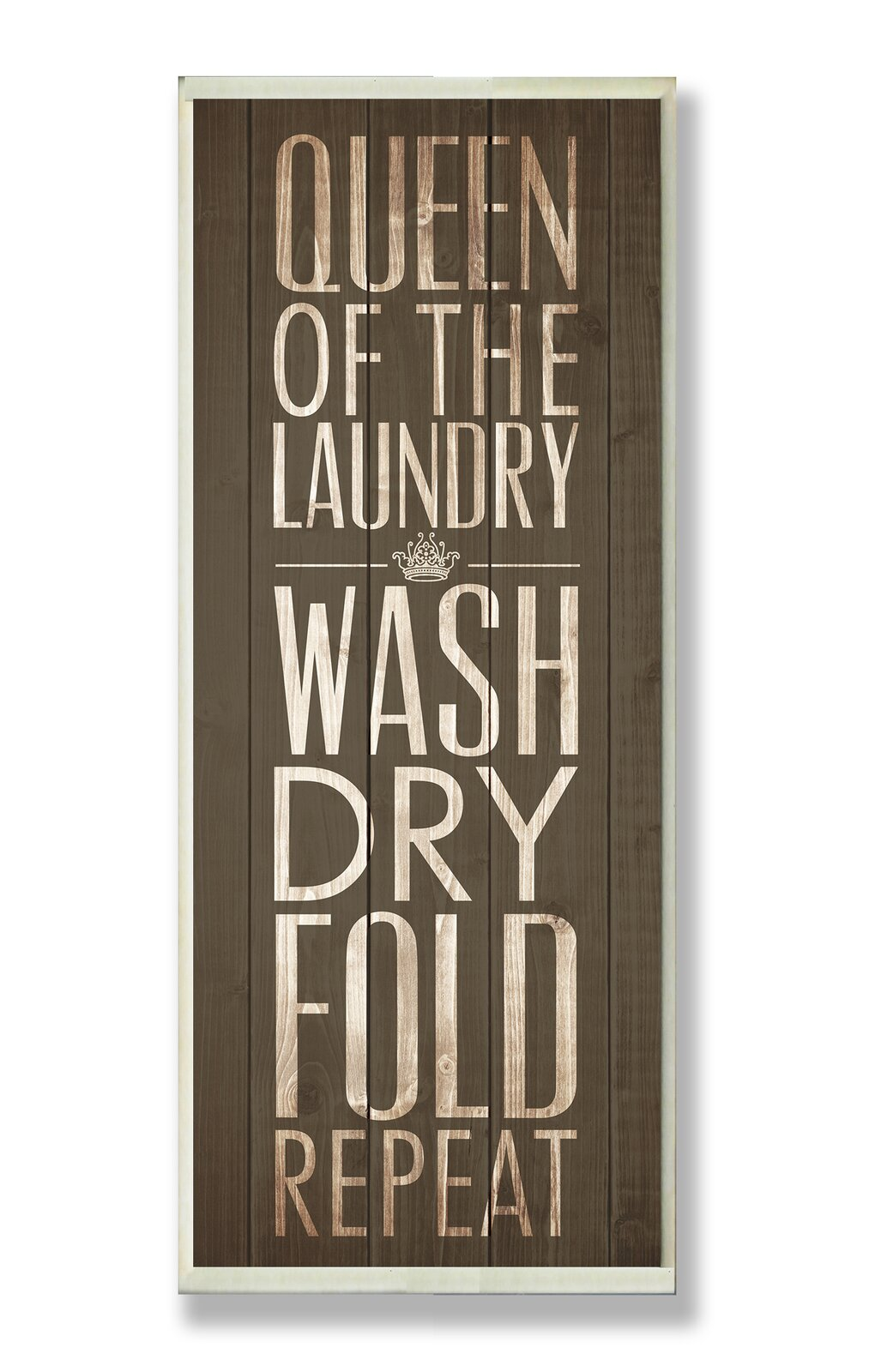 'Brown Queen of the Laundry' Typography Wall Plaque