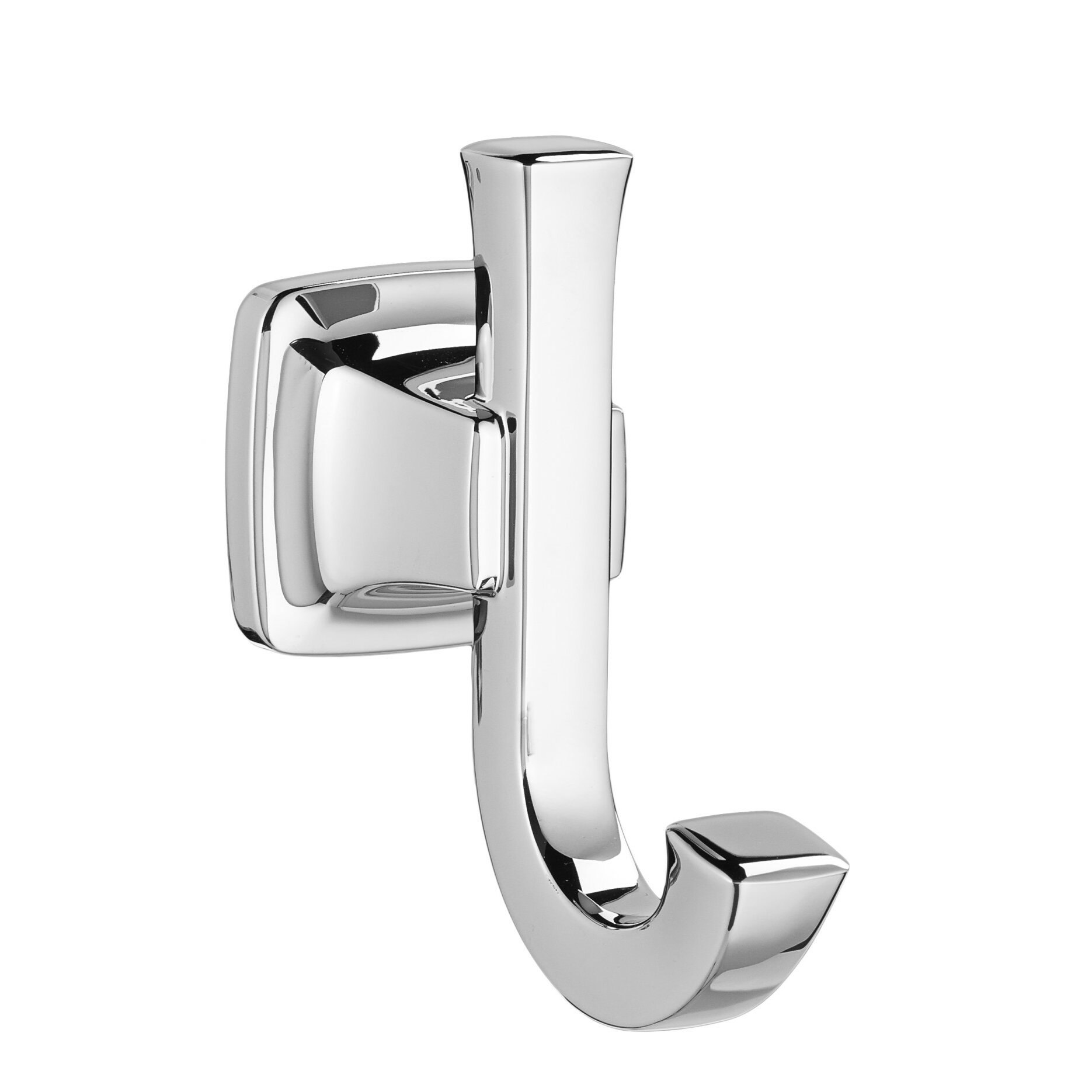 Bright Chrome Double Robe Hook Polished Chrome unconcealed screws NEW
