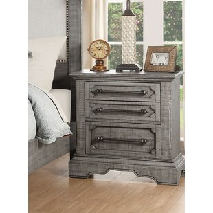 Freya 3 Drawer Nightstand by One Allium Way