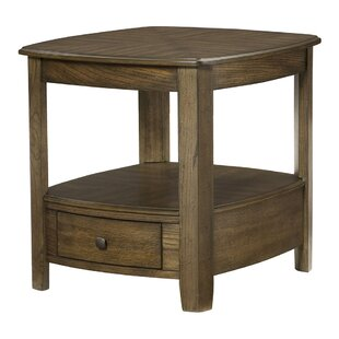 Hassania Wood End Table by Bloomsbury Market