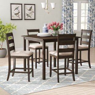 Catalina 5 Piece Solid Wood Counter Height Dining Set DarHome Co