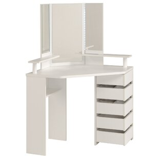 Medders Dressing Table With Mirror By 17 Stories