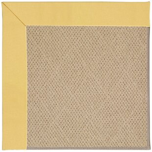 Lisle Machine Tufted Lemon and Beige Indoor/Outdoor Area Rug