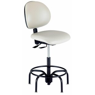 Height Adjustable Laboratory Stool with Tubular Steel Base