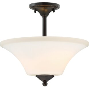 Andover Mills Olsson 2-Light Semi Flush Mount