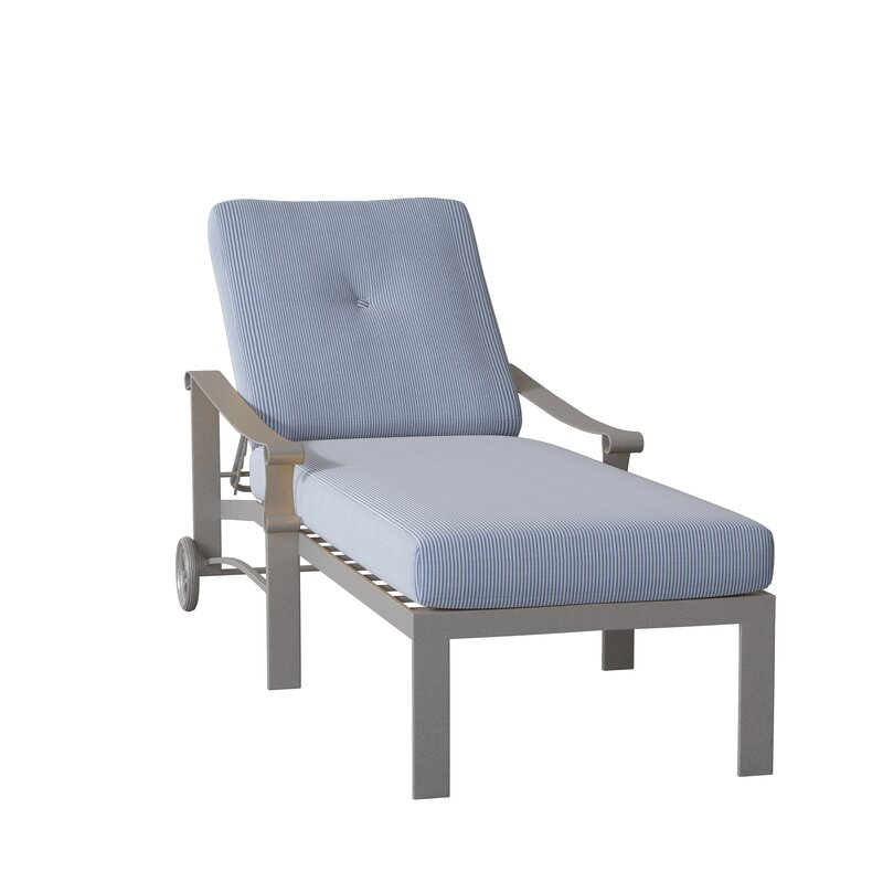 Woodard Bungalow Reclining Chaise Lounge With Cushion Perigold