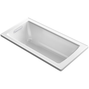 Kohler Archer VibrAcoustic Drop-in Bath with Bask™ Heated Surface and Reversible Drain