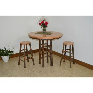 Yorba 3 Piece Solid Wood Dining Set by Lo..