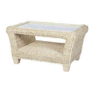Grover Banana Leaf Coffee Table With Storage By Beachcrest Home - Banana leaf coffee table