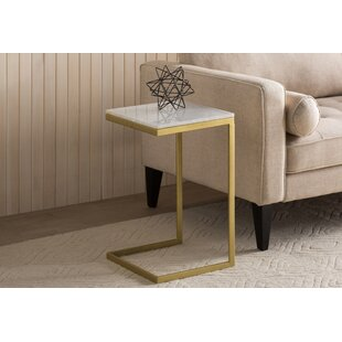 Coffee End Side Table Beside Sofa Table Tempered Glass C-Shape Home Office Room