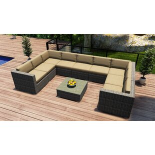 Harmonia Living District 10 Piece Sectional Set with Cushions