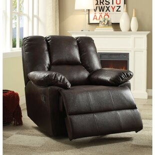 Munford Upholstered Leather Glider Recliner