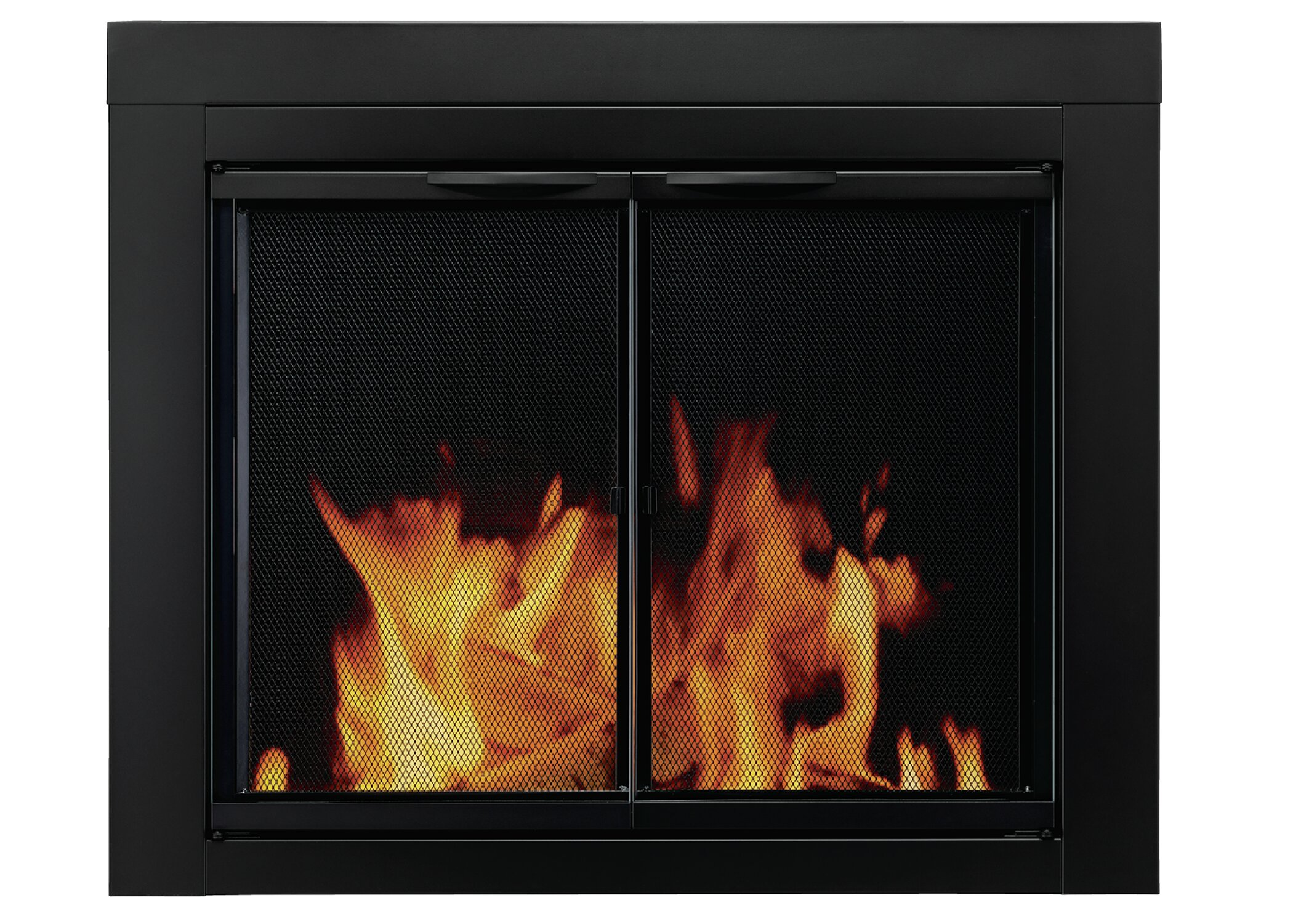 Pleasant Hearth Alpine Cabinet Style Steel Fireplace Doors & Reviews