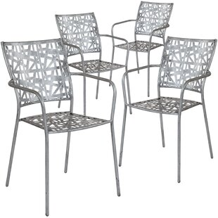 Ocilla Stacking Patio Dining Chair (Set of 4)