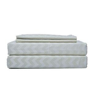 Creed Genuine Jacquard 300 Thread Count Geometric 100% Egyptian-Quality Cotton Sheet Set