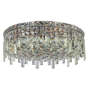 Willa Arlo Interiors Anjali 6-Light Crystal Flush Mount
