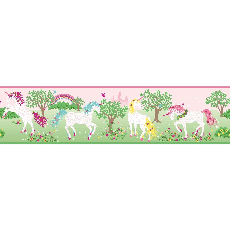 Beautiful Unicorn White Horses Wallpaper Border Retro ...