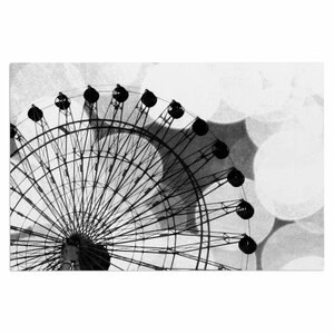 'Black and White Ferris Wheel' Doormat