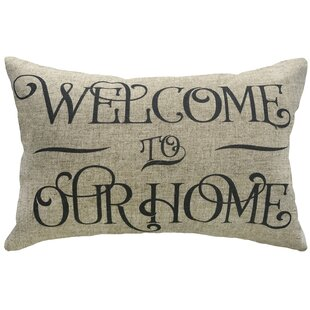 Raley Welcome to Our Home Linen Lumbar Pillow