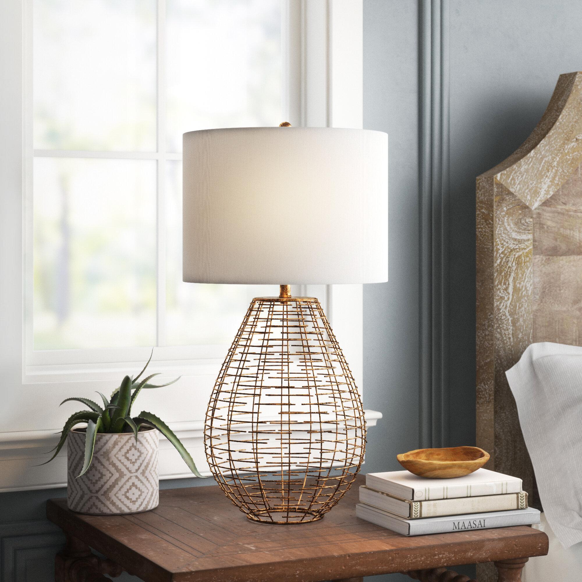 Mistana Jacinta Woven Cage 27 Table Lamp Wayfair